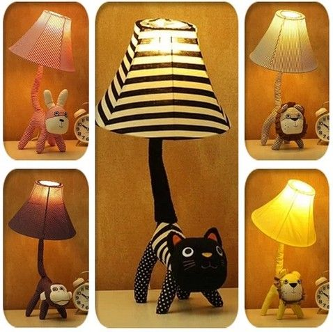 Animal fabric tail table lamp: http://www.goomart.net/products/animal-fabric-tail-table-lamp-bed-lighting-decoration-table-lamp-small-desktop-japan-style-creative-novelty-lamps-and-lanterns/ #Lamps #Desktop #JapanStyle