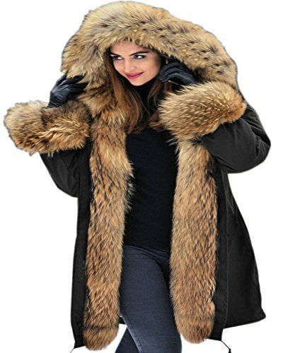 """Product review for Aofur Womens Hooded Faux Fur Lined Warm Coats Parkas Anoraks Outwear Winter Long Jackets.  - Long Hooded Parka Military Trench coat Winter Warm Jacket Green Black Military Parka, Closed By Button, With Two Pockets on side Suit For Winter,Autumn, Snow Weather,Fashion Outside Outdoor Warm Outerwear,Casual Jacket  Size Measurement: US/EU Small:—–Chest 40.9"""", Waist..."""