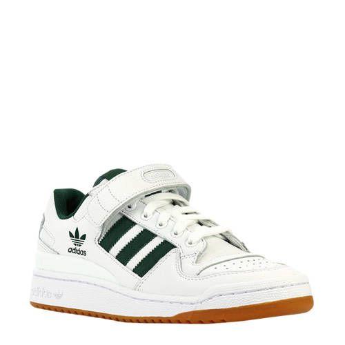 sneakers Forum Low met strepen wit/groen - Adidas originals ...