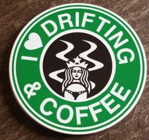I Love Drifting and Coffee, Drifting, Coffee, Sticker, Decal, Cars, VW, BMW, Audi, Subaru, Mitsubishi, Cars, Drift