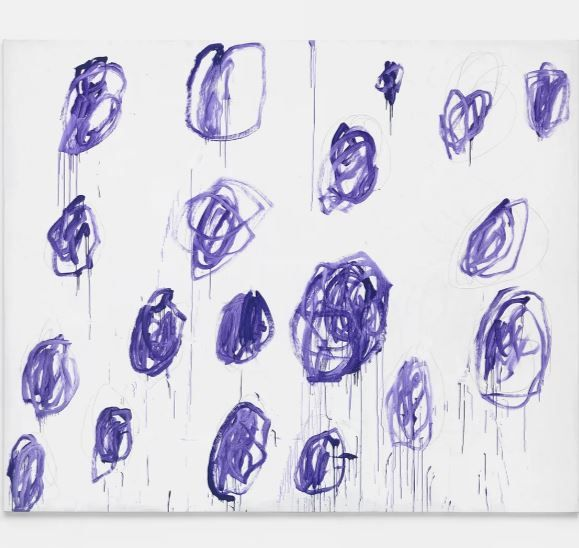 Cy Twombly Untitled, 2007. Photograph: Stuart Burford/© Cy Twombly Foundation