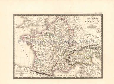 Authentic Ancient France Antique Map Brue 1824 for sale. Free shipping to the USA and low International shipping rates worldwide. Find your original Brue antique map here today.