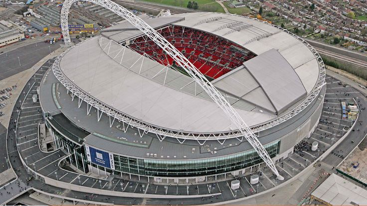 Wembley Stadium is particularly good on a nice day when there are thousands of fans enjoying the atmosphere outside the ground.