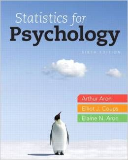 Test Bank Statistics for Psychology 6th Edition by Arthur Aron Ph.D