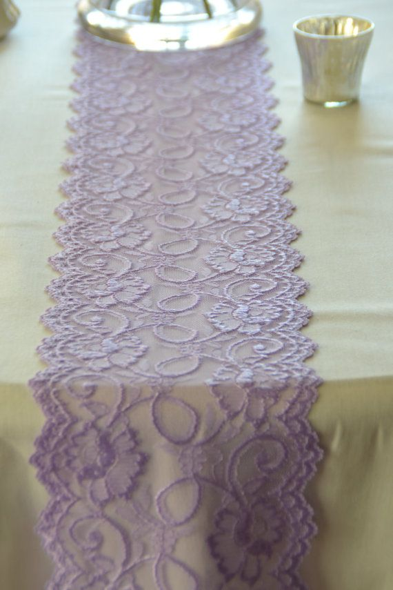 "Lilac / Lavender  Lace Trim 7"" Wide  Lace Trim 72""/ Table Runner LaceTable Runner Lace Apparel Lace DIY Wedding / Baby Shower Easter Decor"