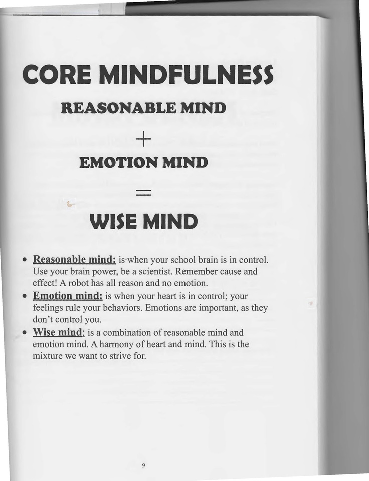 The Art of Dialectical Behavior Therapy: Core Mindfulness