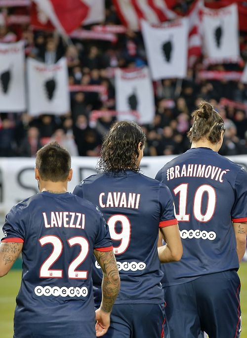 one of the best forward lines in Europe. #PSG www.footballvideopicture.com