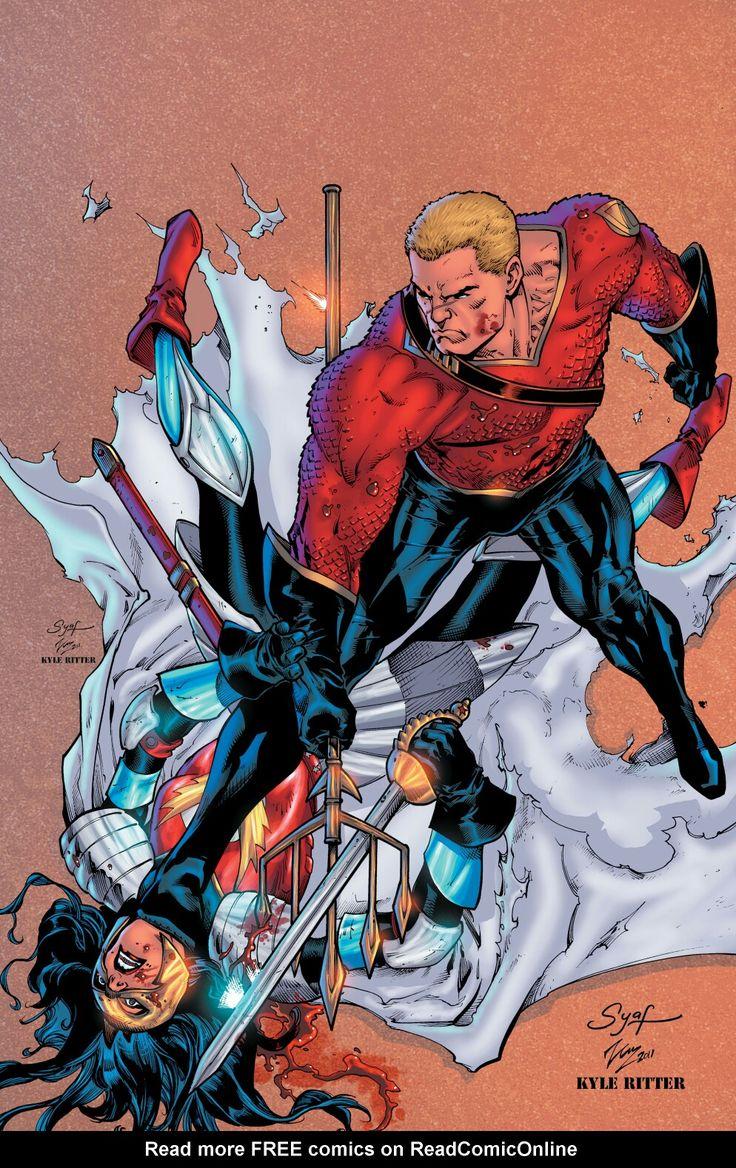 Aquaman Vs Wonderwoman Flashpoint Personagens De Quadrinhos Aquaman Super Heroi