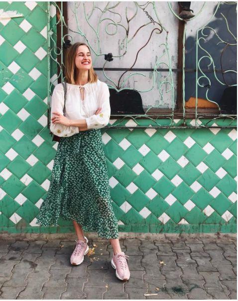 Ganni street style   Cathrine Widunok Wichmand    Capella Mesh Skirt