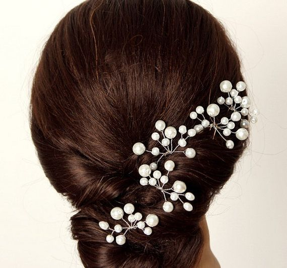 Hair Pins : Pearl hair pins, Wedding and Glasses on Pinterest