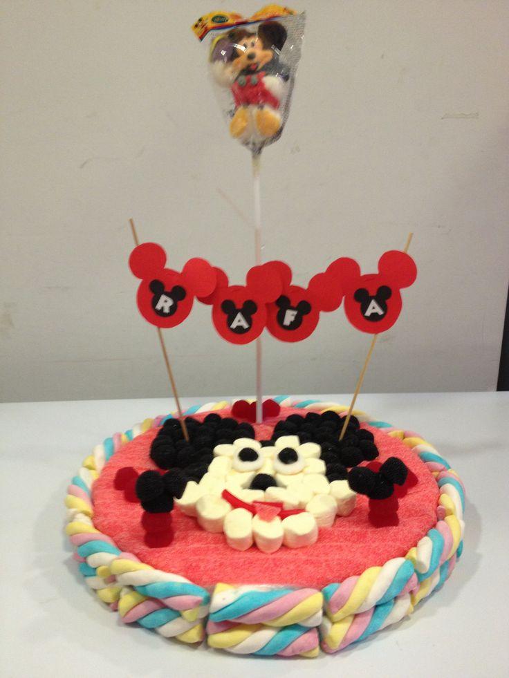 Tarta de chuches de Mickey Mouse #Burjassot Candy cake