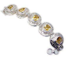 Citrine 925 Sterling Silver appealing exporter Bracelet gift UK