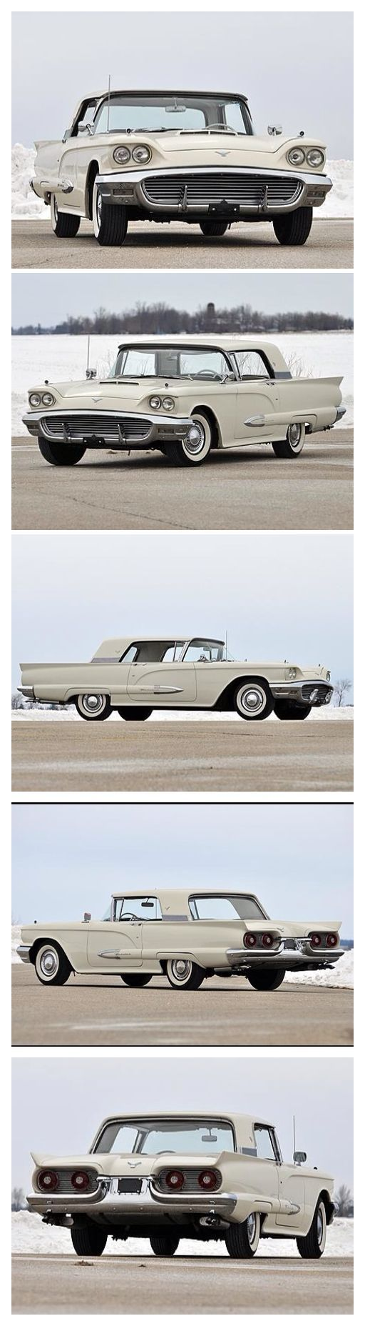 1959 Ford Thunderbird, White in Color. #Ford