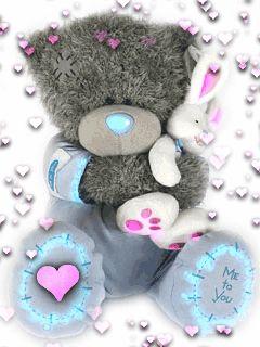 Ourson - Tatty Teddy - Coeurs - Gif animé - Gratuit