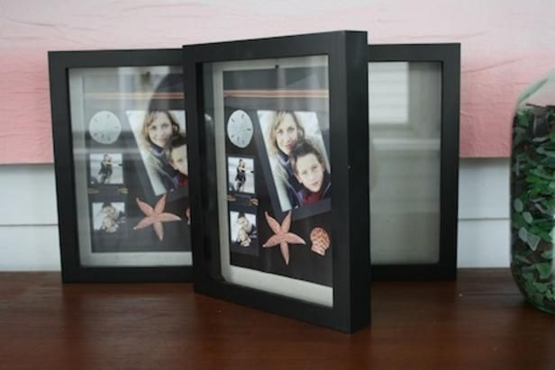 Get ideas and learn how to display photos, trinkets and vacation souvenirs in store-bought shadow-box frames. >> http://www.diynetwork.com/made-and-remade/make-it/how-to-create-shadow-box-home-decor?soc=pinterest