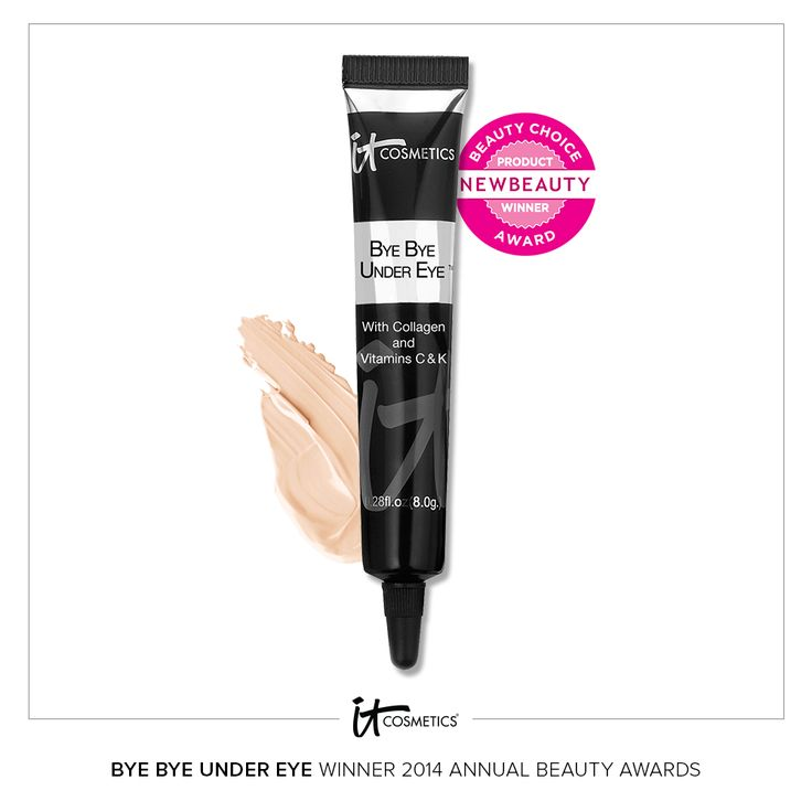 For the third year in a row, IT Cosmetics' Bye Bye Under Eye Concealer has been named the Best Full Coverage Under-Eye Concealer by New Beauty.