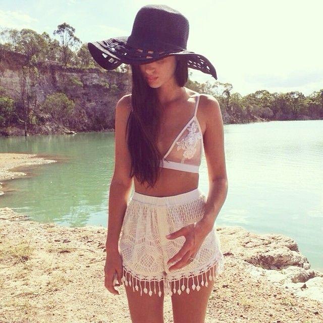 Summer: beach fringe — I want these shorts right meow.