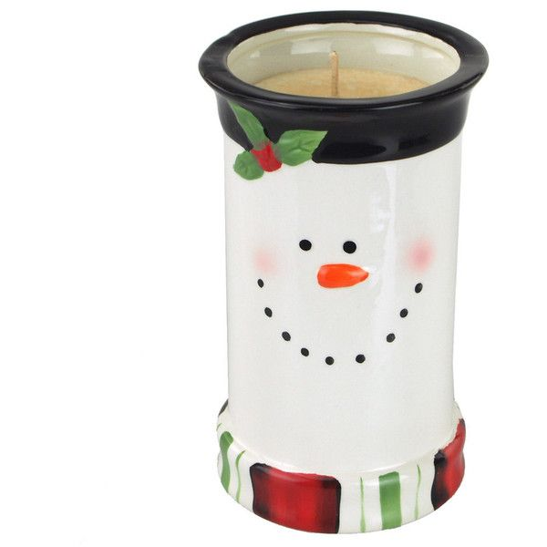 Snowman Ceramic Pot Scented Candle 6-3/4-Inch (€21) ❤ liked on Polyvore featuring home, home decor, candles & candleholders, candles, candles & holders, home & living, home décor, votive candles, white and scented candles