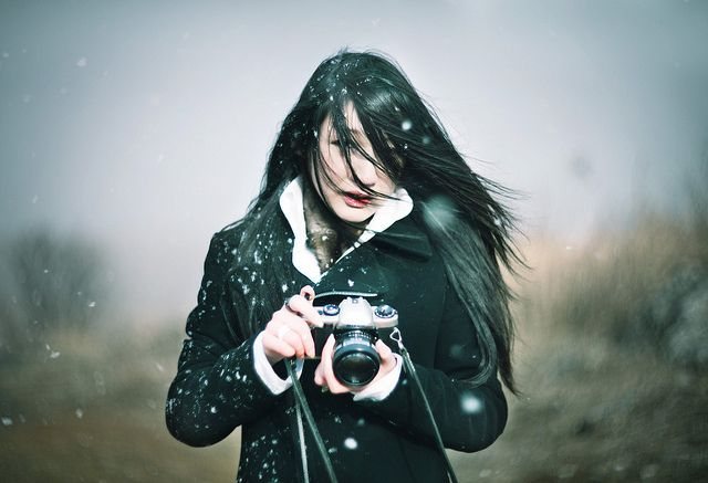Snowy, Girl, Photograph
