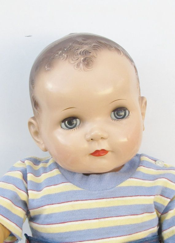 "Vintage 1950's Ideal large baby boy doll. A special ""wish"" for S 5-3-13..  My VERY FAVORITE doll growing up."