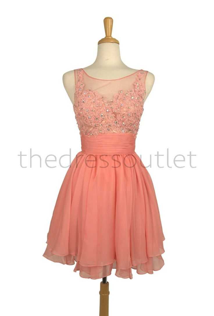 Short Mini Formal Chiffon Cocktail Dress Homecoming Prom