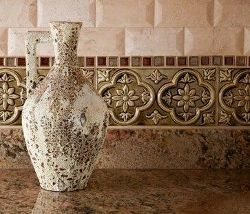 tuscan palazzo. love this italian style backsplash!! kitchen
