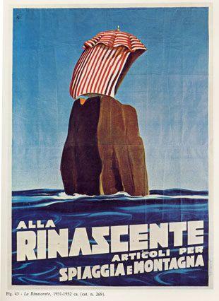"""Anno: 1932 Soggetto: """"La Rinascente"""" - Stampa Star – Igap, Milano Provenienza: Raccolta Salce, Museo Bailo, Treviso"""