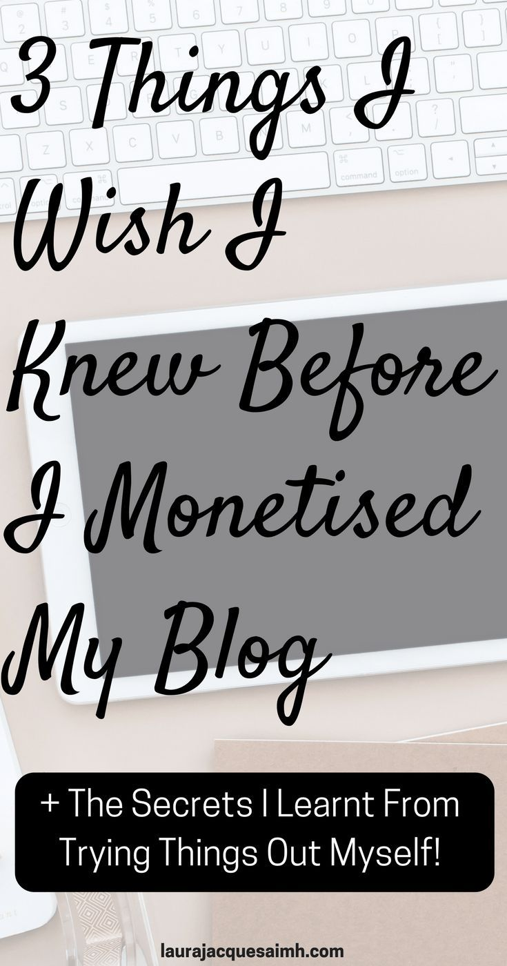 These are the 3 things I wish I knew before I monetised my blog. I also show you how to avoid doing them yourself!