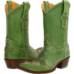 How cool! Green (Kiwi!) with stud crosses! I don't have them, but would gladly take a pair!
