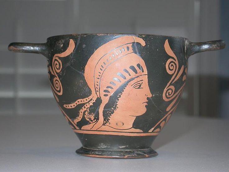Ancient Attic Skyphos. Greek Warrior with Helmet & 100.0+ best Ancient Greek Art images on Pinterest   Ancient greek ...