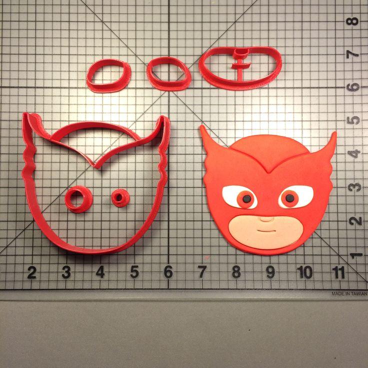 PJ Masks- Owlette Cookie Cutter Set JBCookieCutters.com customizes moldings, cookie cutters, cookie cutter, cutters, cutter, silicone mold, silicone molds, stencil, stencils, baking supplies, baking