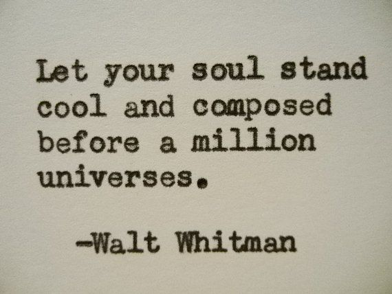 WALT WHITMAN Quote Hand Typed Typewriter Quote Typed with Vintage Typewriter Art…