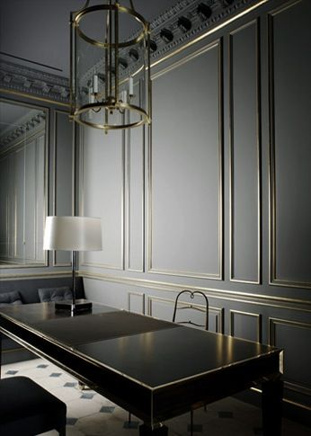 Habitually Chic®. Oh that wall panelling is sublime. Luv the colours and the glamour of it
