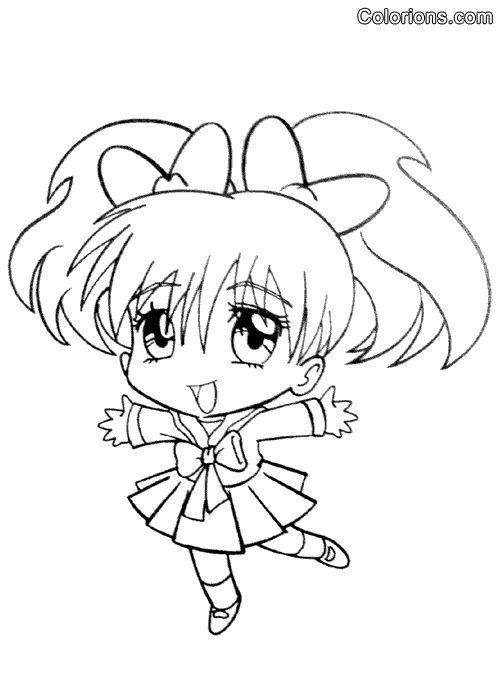 Coloriage Manga à colorier - Dessin à imprimer | Coloriage manga, Coloriage kawaii