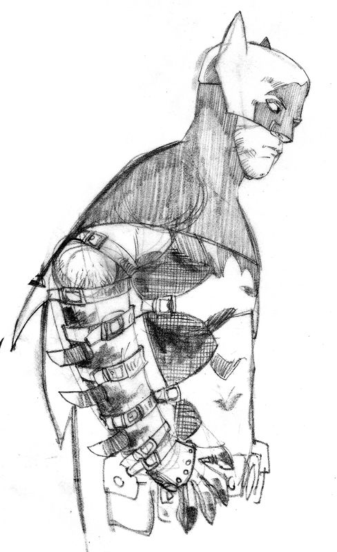 Batman concept art by Tomm Coker