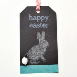 A little glitter, washi and chalk make for cute tags!  via One Artsy Mama at Looksi Square