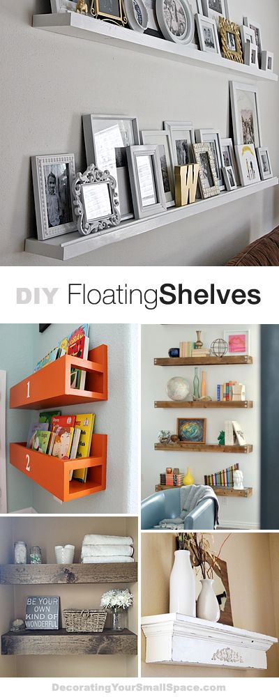 DIY Floating Shelves • Lots of Ideas & Tutorials!