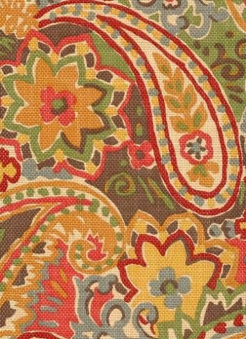 Paisley Fabric: Breeze Tapestry by P. Kaufmann, $26.95/yd (seen in Sarah's House, Season 3, Entry & Mudroom by Sarah Richardson - #SarahRichardson)