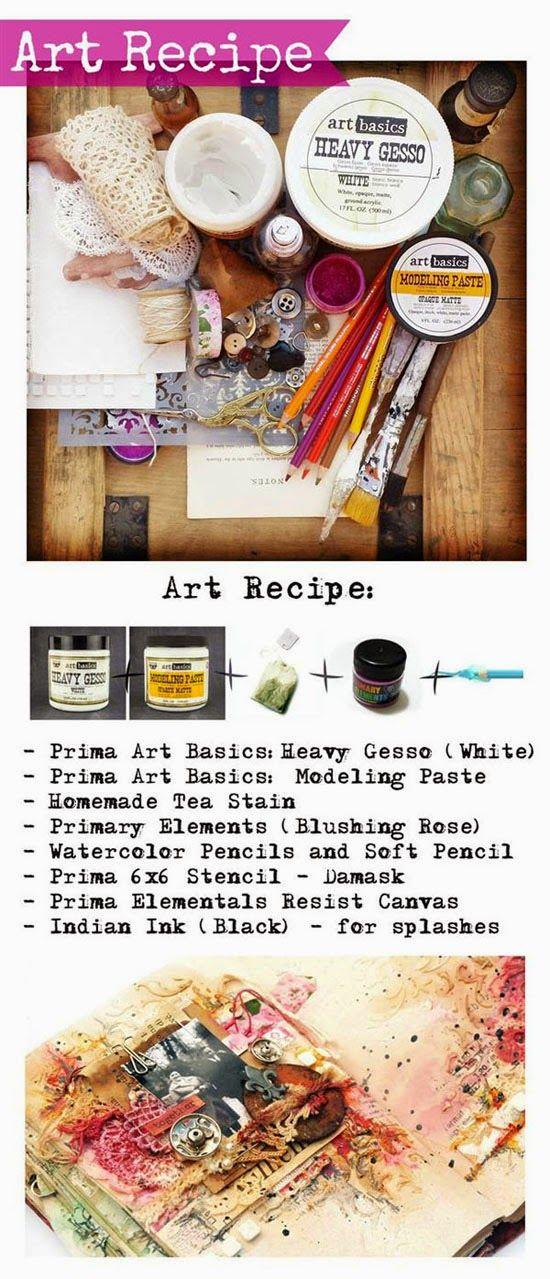Finnabair: Art Recipe - H&E - a bit emotional Journal Page