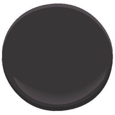 Benjamin Moore, Carbon Copy paint 2117-10. Perfect color for black doors.