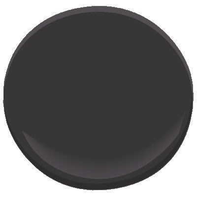Benjamin Moore, Carbon Copy paint 2117-10. Perfect color for black doors.
