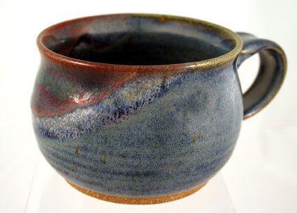 Hand made ceramic soup mug chowder mugs pottery by PlayinMud420