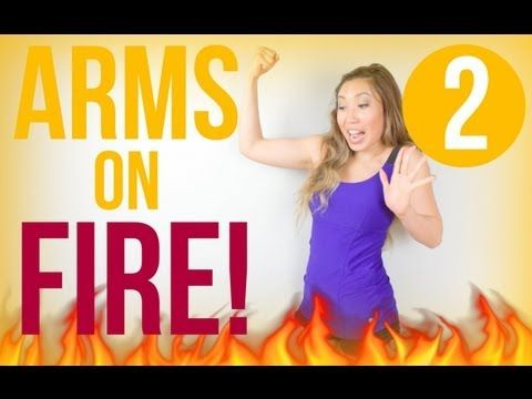 Note from TeamMona: Click on image for 12 minute video: Arms On Fire | POP Pilates - YouTube. All you need is a mat! Technically speaking these are only loosely Pilates-based moves, and the instructor's form is not the best, but she's cute, positive, spunky, and imaginative. Enjoy! :-)