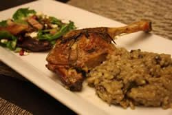 Duck & Wild Mushroom Risotto (Duck & risotto ai funghi selvatici) This risotto will send your taste buds singing! Risotto is cooked with hom...