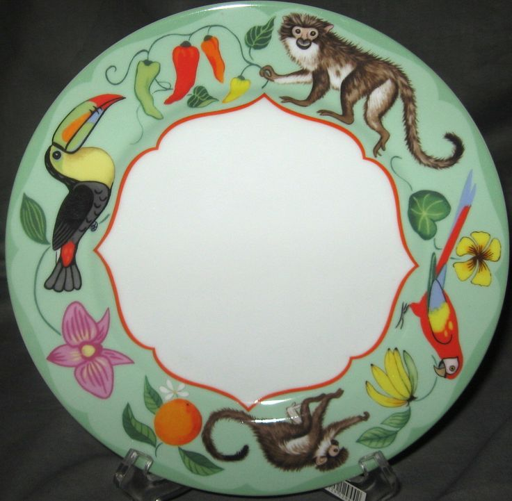 Lynn Chase Monkey Business-So fun! & 13 best Lynn Chase Plates images on Pinterest | Dishes Dinnerware ...