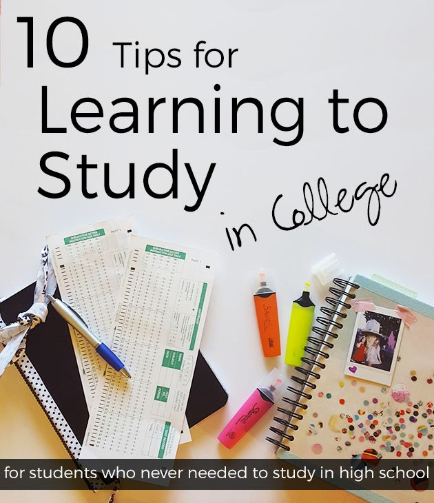 Learning How to Study in College: A guide for those who never needed to study previously or who need to change their ways and re-learn! #college #university #study