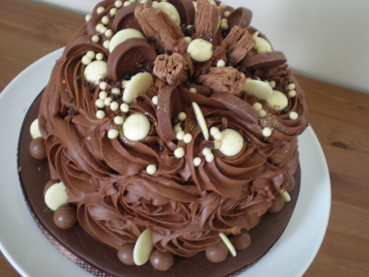 Chocolate Celebration cake, chocolate on chocolate what could be better www.kitchenfairiesleeds.co.uk