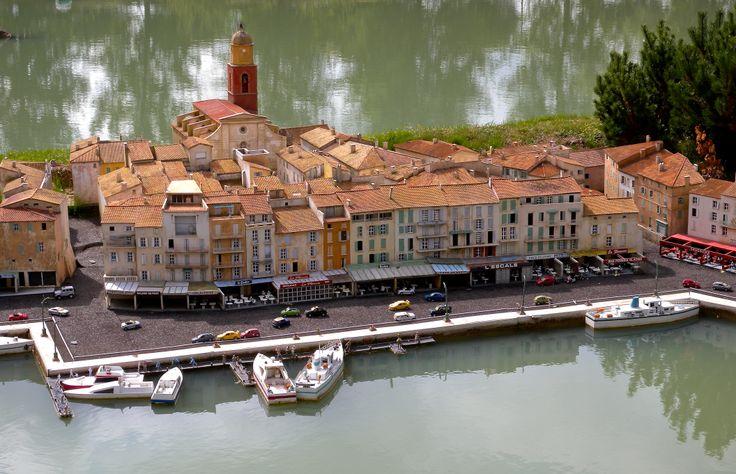 """France, near Versailles. """"La France en Miniature""""... here is Saint Tropez"""