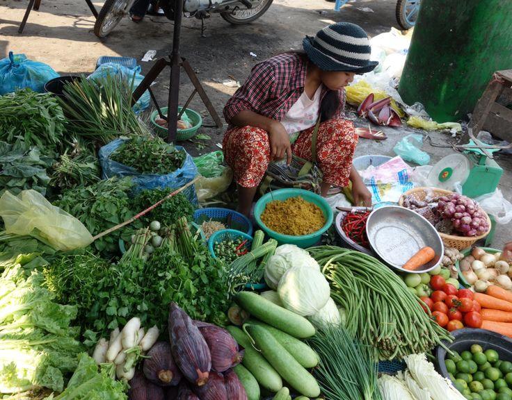Marché de Battambang. Cambodia.