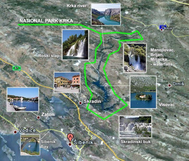 NP Krka - map